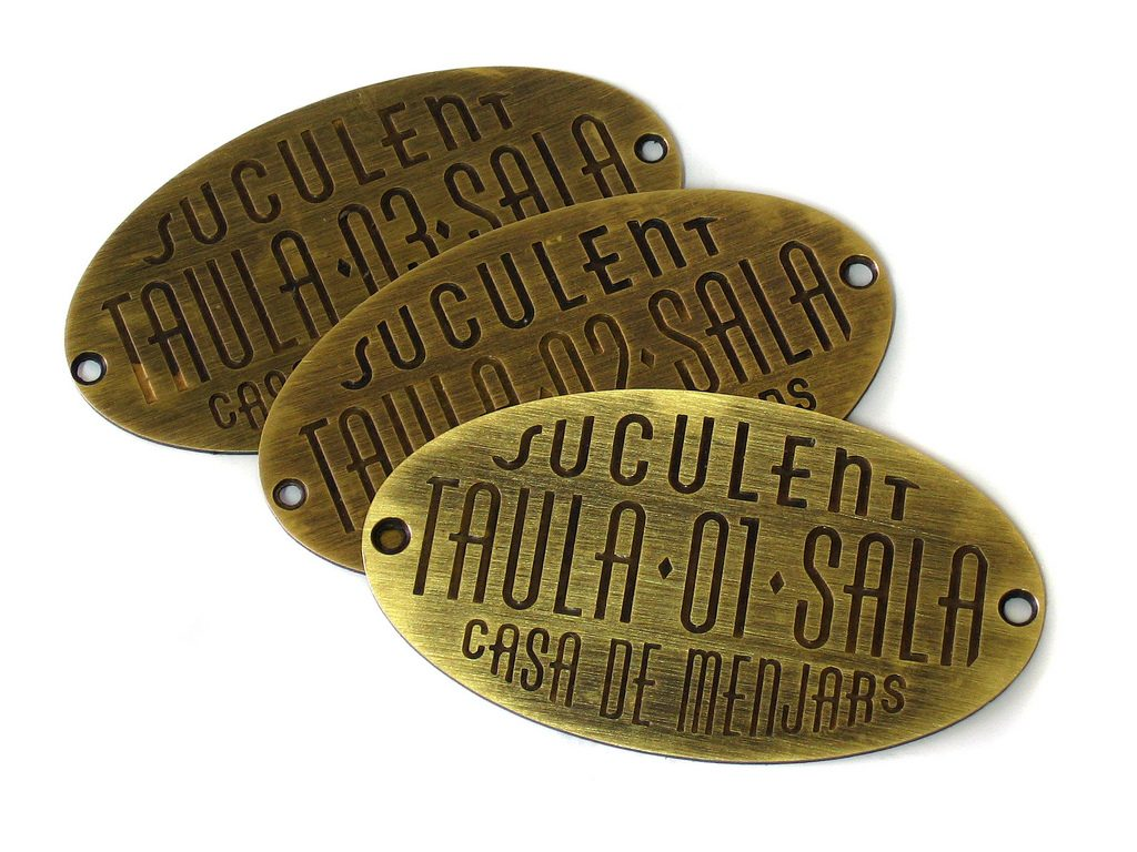 Aged Brass Plates