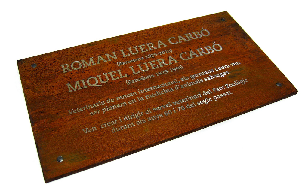 Embossed or honored engraved steel plate