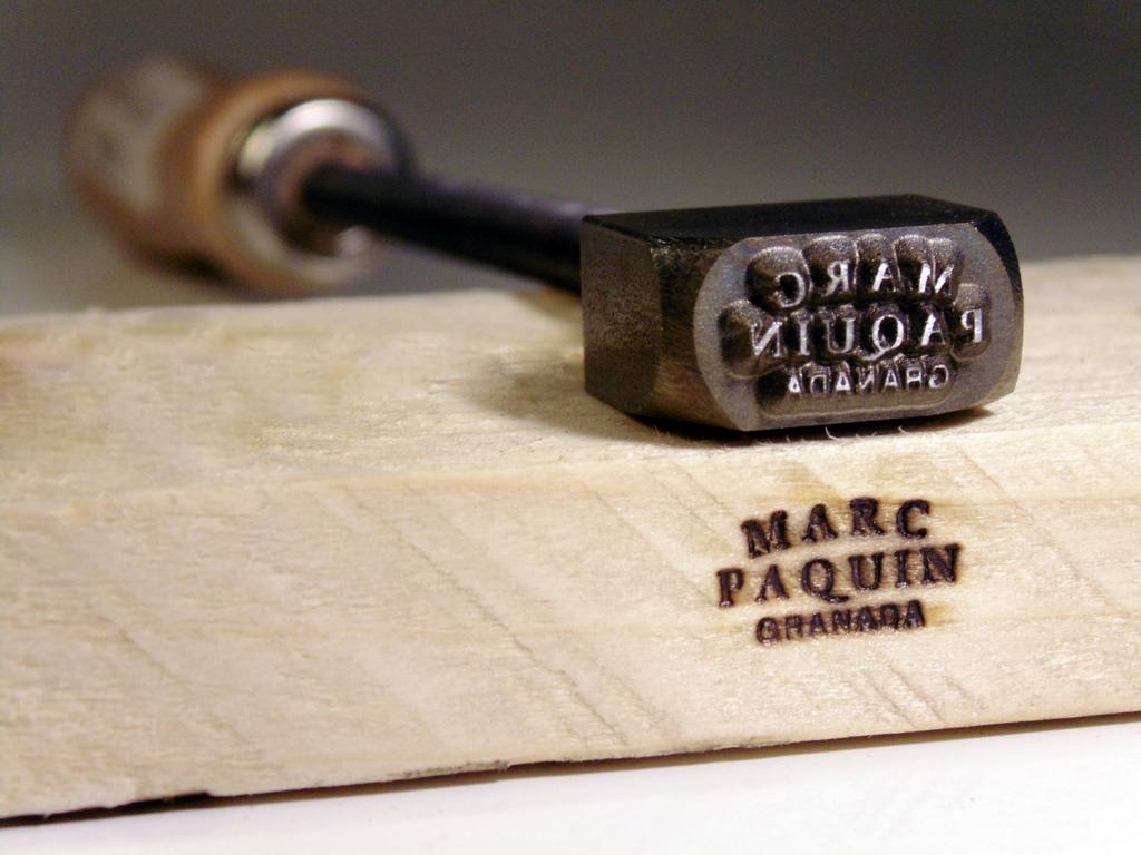 Punzón o sello de luthier