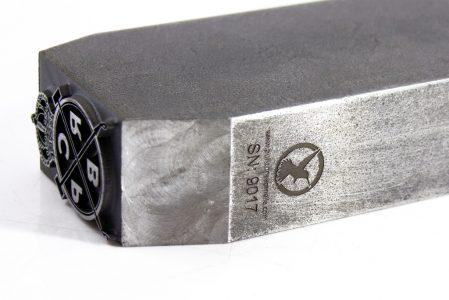 Punzón para marcar cuero o madera